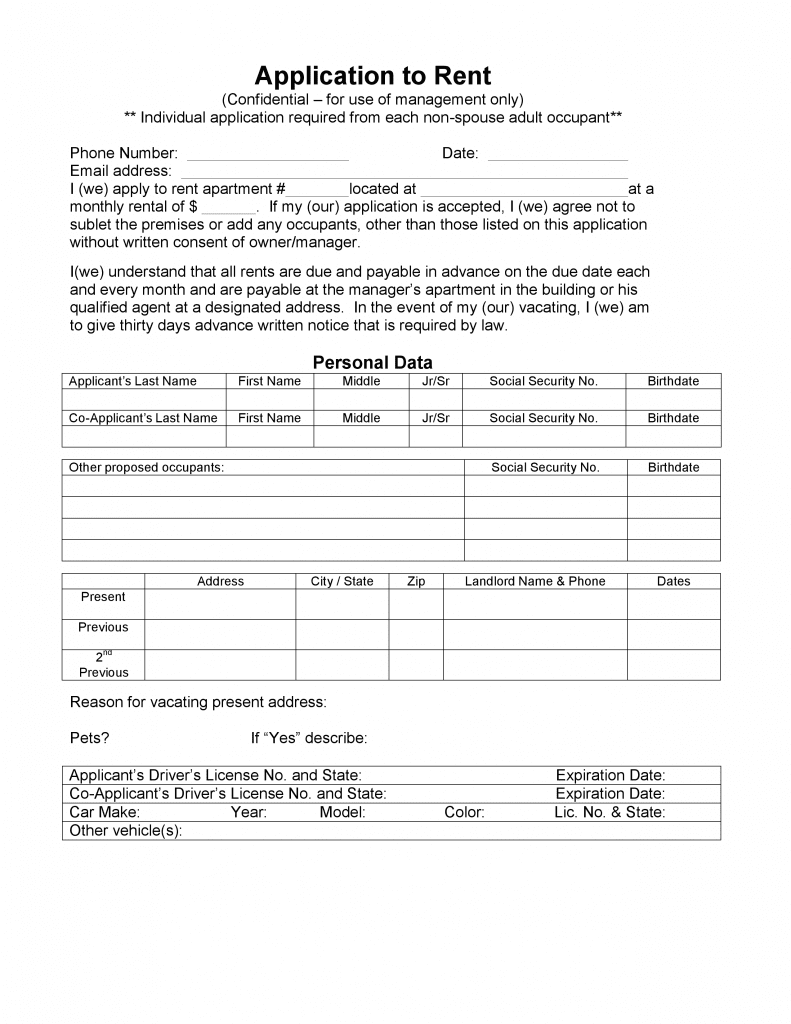 Alaska Rental Application